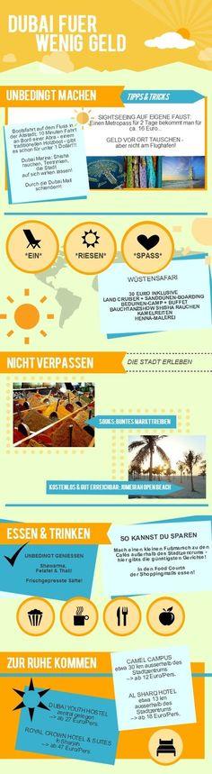 Dubai für wenig Geld @urlaubsreiseblog #infografik