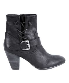 Another great find on #zulily! Black Milan Buckle Boot #zulilyfinds