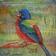 """A Voice So Sweet"", Mixed Media Painting by Angela Anderson"