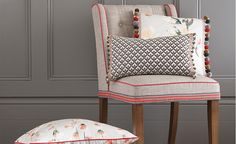 Romo is an international leader of upholstery fabrics, wallcoverings and trimmings for residential and contract interiors. Romo Fabrics, Cushions, Pillows, Designers Guild, Upholstered Furniture, Soft Furnishings, Interior Inspiration, Fabric Design, Family Room