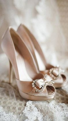 Love these as a wedding shoe idea - the platform will make them so comfortable!