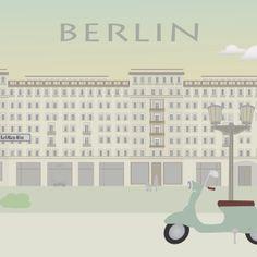Poster. Grafisk Design. Illustration. Berlin. Karl Marx Allee