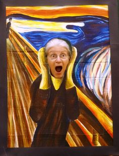 Set up a painting for students and parents to take their picture in. Hilarious! . . . and fun! Art week, perhaps?