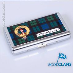 MacKay Clan Crest Cigarette / Business Card Case. Free Worldwide Shipping Available