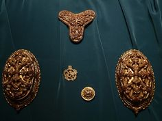viking age brooches and clips  historisk museum, oslo, norway