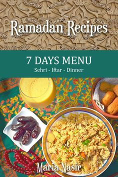 """Read """"Ramadan Recipes: 7 Days Menu"""" by Maria Nasir available from Rakuten Kobo. """"What to cook for Iftar and dinner?"""" An important question in many Muslim households during the holy month of Ramadan wh. Halal Recipes, Curry Recipes, Indian Food Recipes, Cooking Recipes, Pollo Kung Pao, Reshmi Kebab, Papdi Chaat, Semolina Cake, Light Snacks"""