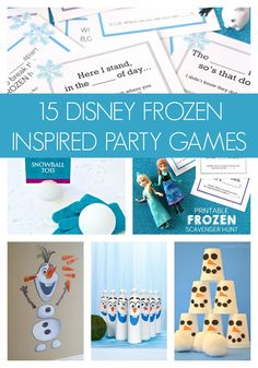 15 Disney Frozen inspired party games your kids will love! - Pretty My Party #disney #frozen #games #activities #idea #crafts #birthday #party #kids