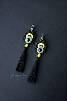 Handmade jewelry set earrings and bracelet by Mildossutazas