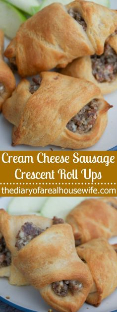 These Cream Cheese Sausage Crescent Roll Ups are so simple to make and one of my family's favorite breakfast recipes. Bold sausage and cream cheese wrapped in a fluffy crescent roll.