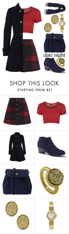"""""""Date Night"""" by meaganmuffins ❤ liked on Polyvore featuring Topshop, Miss Selfridge, New York & Company, BERRICLE, Kate Spade, Journee Collection, Caslon, DateNight, 60secondstyle and LastMinuteDate"""