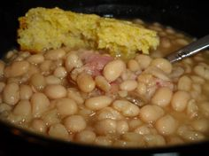 """White Bean Soup with Ham from Food.com:   Simple, cheap, hearty and delicious. From Mark Bittman's """"How to Cook Everything."""" I love cause there's no need to presoak the beans."""