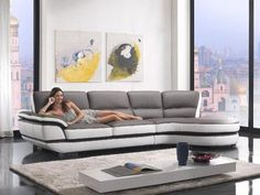 Divani Casa - Modern Eco-Leather Sectional Sofa *** To view further for this item, visit the image link. (This is an affiliate link) Leather Sectional Sofas, Modern Sectional, Modern Sofa, Grey Leather Corner Sofa, Best Leather Sofa, Furniture Care, Modern Home Furniture, Furniture Decor, Sofa Deals