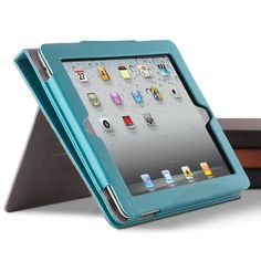 Dual-Stand Leather Case for iPad® and All-New iPad Tablet  Genuine leather provides beautifully rugged protection.