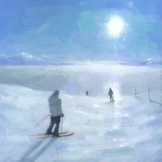Islands in the Cloud Ski Painting Signed by stevemitchellprints, $35.00