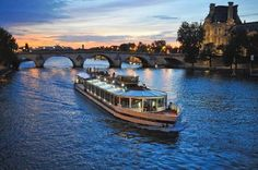 Paris Bistro-Style Seine River Dinner Cruise in France Europe Paris Pictures, Travel Pictures, Tour Eiffel, Beautiful Places To Visit, Places To See, Travel Around The World, Around The Worlds, Seine River Cruise, Welcome To Paris
