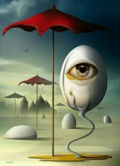 Marcel Caram This guy is like the Salvador Dali of digital art. He uses a lot of surrealism and its really cool. Surrealism Painting, Pop Surrealism, L'art Salvador Dali, Salvador Dali Paintings, Arte Pink Floyd, Inspiration Art, Art Moderne, Art Graphique, Psychedelic Art