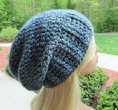 Slouchy Beanie Crochet Hat Handmade Hat Winter Accessory