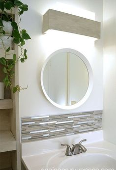 6 Inviting Cool Ideas: Bathroom Remodel Mirror bathroom remodel shower with window.Bathroom Remodel Shower Only. Home Improvement Loans, Home Improvement Projects, Cool Ideas, Budget Bathroom Remodel, Shower Remodel, Bath Remodel, Bathroom Light Fixtures, Bathroom Lighting, Wall Fixtures