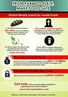 HACCP Mentor WHO - Food Safety Info-graphic From Farm to Plate, Make food safe