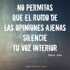 Frases celebres de Steve Jobs. hoymotivacion.com