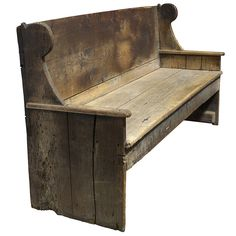 Primitive 18th Century Wood Bench  I just got a bench like this, needs a little work tho