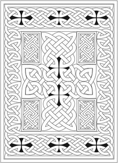 Welcome to Dover Publications - CH Celtic Crosses Adult Coloring Book Pages, Alphabet Coloring Pages, Colouring Pages, Celtic Tribal, Celtic Art, Celtic Crafts, Celtic Crosses, Islamic Patterns, Celtic Patterns