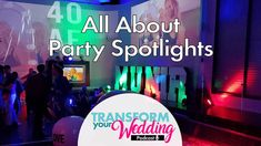 Learn Wedding Lighting - Party Spotlights Wedding Vendors, Wedding Tips, Wedding Lighting, Today Episode, Types Of Lighting, Spotlights, Fun Learning, Advice, Neon Signs