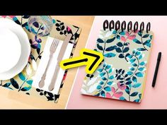 DIY Notebook from IKEA Placemats! | Sea Lemon - YouTube