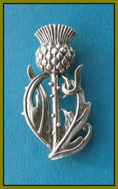 WILD THISTLE KILT PIN......symbolizes one's love of Scotland and the wild Scottish landscape. The thistle is the plant symbol of Scotland