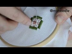 Hardanger embroidery filling stitch. - YouTube