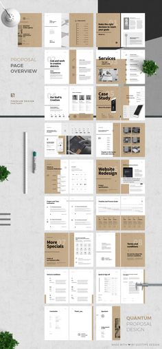 Proposal and Portfolio TemplateMinimal and Professional Proposal Brochure template for creative businesses, created in Adobe InDesign, Microsoft Word and Apple Pages in International DIN A4 and US Letter format.This Proposal Template features: DI…