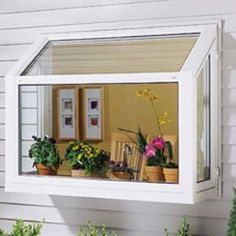 My next home improvement project, a green house kitchen window! - My next home improvement project, a green house kitchen window! Kitchen Window Shelves, Kitchen Garden Window, Greenhouse Kitchen, Window Greenhouse, Home Greenhouse, Garden Windows, House Windows, Kitchen Windows, Vinyl Windows