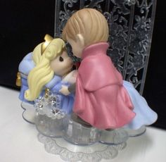 precious moment sleeping beauty wedding cake topper
