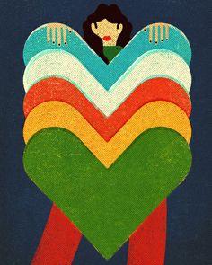 Queen of Hearts Art Print by Sweden10