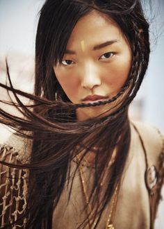 """Tian Yi in """"Bohemian Deluxe"""" by Jem Mitchell for Vogue China, March 2015"""