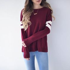25 Lovely Sweater Outfit for Teens Schools 2019 Sweater Outfit for Teens Schools Lovely Sweater Outfit for Teens Schools Varsity Pullover Maroon The post 25 Lovely Sweater Outfit for Teens Schools 2019 appeared first on Outfit Diy. Shirts For Teens, Outfits For Teens, Fall Outfits, Casual Outfits, Teen School Outfits, Teen Shirts, Cute Teen Outfits, Unique Outfits, Grunge Outfits