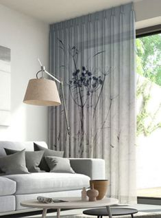 Window Treatment Ideas - Whether you're seeking curtains, tones or something in between, here are outstanding window treatments that are DIY-friendly. Home And Living, Interior Design, Living Room Decor, Curtains Living Room, Home Living Room, Curtains, Home, Interior, Home Curtains