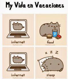 Mi vida en vacaciones... Internet, comida, Internet y dormir xd LOL