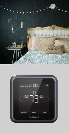 The best DIY projects & DIY ideas and tutorials: sewing, paper craft, DIY. Diy Crafts Ideas The stylishly connected thermostat of your dreams. My Room, Dorm Room, Interior And Exterior, Interior Design, Innovation Design, Home Furniture, Home Goods, Home Improvement, Sweet Home