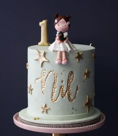 58 Ideas Baby First Birthday Decorations Food Ideas For 2019 1st Birthday Cake For Girls, First Birthday Decorations, Baby Birthday Cakes, Baby First Birthday, Super Torte, Baby Girl Cakes, Love Cake, Cute Cakes, Celebration Cakes