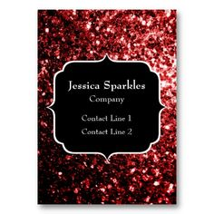 Sold Beautiful Glamour Red Glitter sparkles Business Cards by #PLdesign #RedSparkles #SparklesCard
