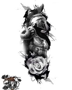 Samurai Tattoo Sleeve, Forearm Sleeve Tattoos, Best Sleeve Tattoos, Rose Tattoos For Men, Black Ink Tattoos, Black And Grey Tattoos, Warrior Tattoos, Badass Tattoos, Maori Tattoo Designs