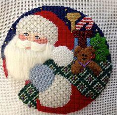 Santa ornament. Repinned by www.mygrowingtraditions.com