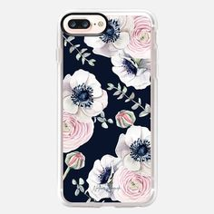 CASETiFY iPhone 8 Plus Case - Navy Blossom Flower Love by Nature Magick - Navy Pink Pastel Floral by Nature Magick by Autumn Kalquist Latest Iphone, Apple Watch Models, Pink Iphone, Pastel Floral, Apple Watch Series 1, Blossom Flower, Apple Products, Iphone 7 Plus Cases