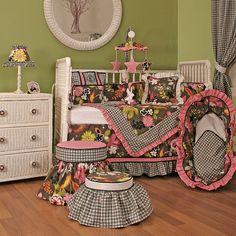 Sleek Slate Crib Bedding