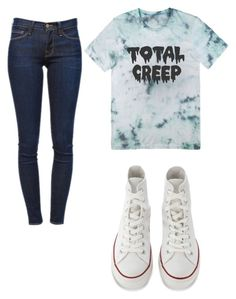 """Total creep!!"" by gurveenpanesar ❤ liked on Polyvore featuring Frame Denim, Converse, women's clothing, women, female, woman, misses and juniors"