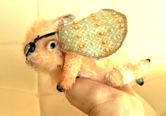 Teddy Bear style Artist viscose vintage OOAK Monster handmade collectible toy by IntDolls on Etsy