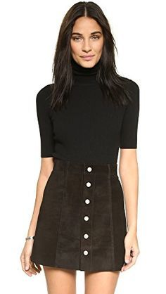 This black Theory turtleneck bodysuit is sleek and slimming.