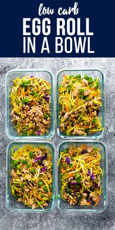 This egg roll in a bowl is the perfect low carb lunch for you! With only 7 g net carbs this recipe has broccoli cole slaw ground pork and a delicious Asian sauce. Low carb egg roll in a bowl pork egg roll in a bowl keto egg roll in a bowl Keto Lunch Ideas, Lunch Recipes, Beef Recipes, Low Carb Recipes, Cooking Recipes, Healthy Recipes, Broccoli Slaw Recipes, Recipes For Ground Pork, Brocolli Slaw