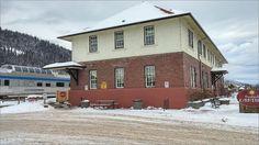 1918 Railway station and Via Rail train. Photos taken on January 2016 Smithers, BC. Photos by Brian Vike Houston, British Columbia.